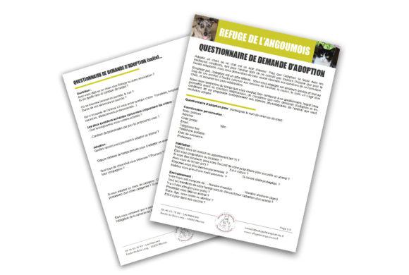 Questionnaire de demande d'adoption à télécharger